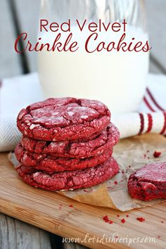 If you need a last minute Valentine's Day treat, then this is the cookie for you.  Using a box cake mix is a fabulous shortcut, especially when it comes to red velvet.  If you've ever tried making ...
