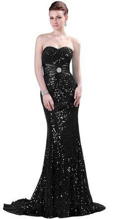 Grace Karin Mermaid Evening Dress Red Gold Sequin Strapless Luxury Women Abendkleider Long Formal Special Occasion Dress 2017