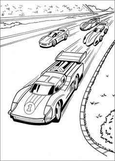 kleurplaten hot wheels 5 - Race Car Coloring Pages Printable