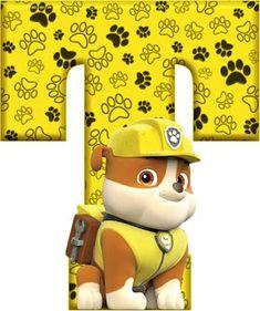 Abecedario de Rubble de Paw Patrol. Rubble´s Abc. Rubble Paw Patrol, Paw Patrol Party, Paw Patrol Birthday, Candyland, Imprimibles Paw Patrol, Paw Patrol Decorations, Scrapbook Letters, Fiesta Mickey Mouse, Dog Themed Parties