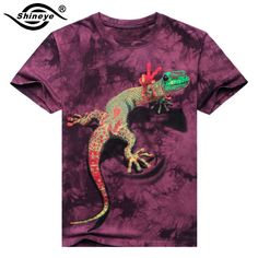 3b9125f679 2017 Men 3D T Shirt Animal Short Sleeves Cotton O Neck Tiedye Personalized T  Shirt Water Printed Tee Shirts T Shirts Clothes A8-in T-Shirts from Men s  ...