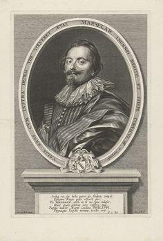 Portret van Frederick de Marselaer, bestuurder in Brussel, Cornelis Galle (I), 1610 - 1650