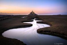 Début de soirée dans la baie du Mont Saint Michel - © Ludovic Lagadec photos