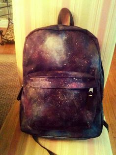 Hand Painted Galaxy Hipster Backpack by BeOriginalC on Etsy, $60.00
