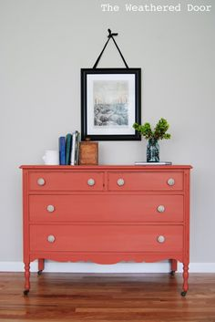 Coral Before and After... the Weathered Door blogspot