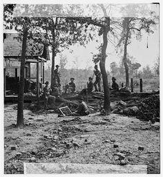 Atlanta, Ga., vicinity. Federal pickets before the city. [1864].