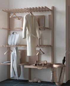 Front Hallway, Furniture Decor, Wardrobe Rack, Woodworking, Interior Designing, Building Ideas, House, Thesis, Closets