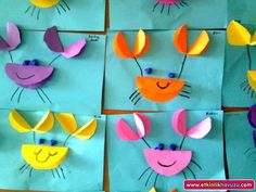 (No link- picture only) I can look at these pictures and use this craftivity idea for my beach/ocean unit. Crab Crafts, Diy And Crafts, Arts And Crafts, Paper Crafts, Diy For Kids, Crafts For Kids, Classroom Crafts, Animal Crafts, Summer Crafts