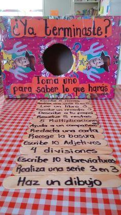 Ja has acabat? Preschool Classroom, Classroom Activities, Classroom Decor, Activities For Kids, Kindergarten, Spanish Classroom, Teaching Spanish, Teaching English, Teaching Resources