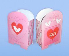 Free printable Valentine Postbox