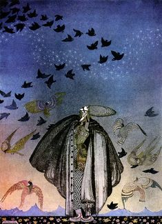 kay nielsen_norwegian tales_the three princesses of the blue mountain