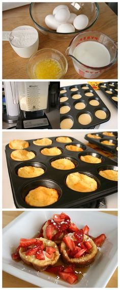 Pop Up Pancakes in a muffin tin! What a great idea to serve to guests for a brunch or for kiddos in the morning before they're off to school!