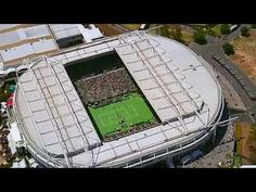Aerial over Rod Laver Arena ● Australian Open