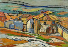 "LOUIS MATHIEU VERDILHAN (French, 1875-1928) - ""Les Toits d'Allauch"", 1909"