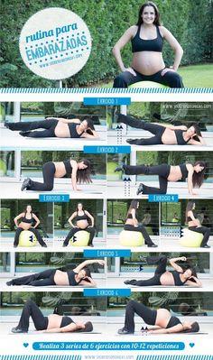 Ideas fitness mujer embarazada for 2019 Baby Workout, Prenatal Workout, Prenatal Yoga, Pregnancy Workout, Third Trimester Workout, Ab Exercises For Pregnancy, Pregnancy Fitness, Exercise During Pregnancy, Pregnancy Health