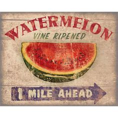 advertising signs vintage watermelon - Google Search