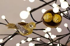 Make some nests ornaments for your Christmas birds that double as a somewhere to hold Christmas treats!
