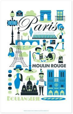 Paris... and aren't these tea towels cute.