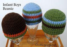 Infant boys beanie cap