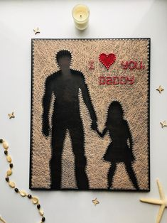 Mom Gifts Discover I love you daddy Fathers birthday gift Fathers Day Gift from daughter Father and daughter string art wall art family wall decor String Art Templates, String Art Tutorials, String Art Patterns, Fathers Day Crafts, Gifts For Father, Mom Gifts, Grandparent Gifts, Father Birthday, Birthday Gifts