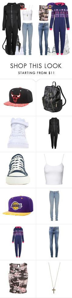 Conjunto #702 by laarochaa on Polyvore featuring moda, Jane Norman, Nudie Jeans Co., Converse, Lana Jewelry, Just Female Acces, Mitchell & Ness, Cheap Monday, John Lewis and NIKE