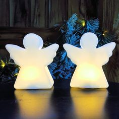 LED-figure Angels Set of 2 H10cm * Check this awesome image  : Decor Collectible Buildings and Accessories