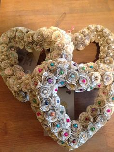 Recycled Paper Rose Heart Wreath available to buy from remadeinbritain.com