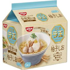 Nissin Raoh Yuzu Shio Ramen have been developed through a state-of-the-art, triple-layer process without frying the noodles and then pairing them with a rich and savory yuzu and shio broth. Packging Design, Shio Ramen, Instant Rice, Japanese Packaging, Chicken Flavors, Food Packaging, Noodles, Food And Drink, Package Design