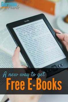 How to Get Free Books | E-Books for Free | Save Money on Books via @GermanPearls