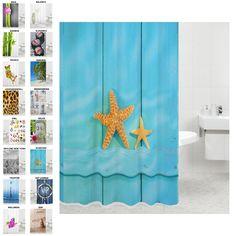 Duschvorhang, viele schöne Duschvorhänge zur Auswahl, hochwertige Qualität, inkl. 12 Ringe, wasserdicht, Anti-Schimmel-Effekt (Starfish, 180 x 200 cm): Amazon.de: Küche & Haushalt