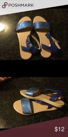 Metallic blue sandals Blue sandals Avon Shoes Sandals