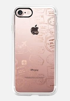 Let's travel...where too? Rose gold iPhone 6s Case by maria kritzas | Casetify