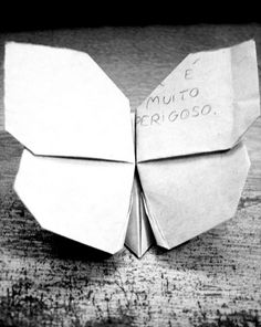I really love this origami butterfly. Very hard to find online instructions but they do exist! You might even find a printable diagram.....