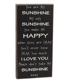 'My Sunshine' Box Sign