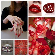 Just red. Red inspiration with Ana Cavalheiro Jewelry. www.anacavalheiro.com