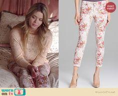 Ali's floral jeans on Pretty Little Liars.  Outfit Details: http://wornontv.net/36257/ #PLL