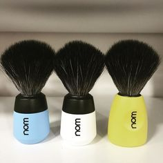Nom New Shaving Brushes #mühle #nom #shavingbrush #synthetic #blackfibre #wetshaving #traditionalshaving #shavetime #bestproducts #hairmakergr Shaving Brush, Wet Shaving, Shaving Products, Nom Nom, Fiber, Beauty, Low Fiber Foods, Beauty Illustration