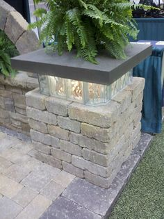 I love the look of this glowing glass-block. It makes a beautiful, soft light…