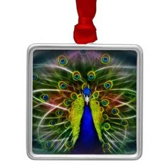 Shop The Peacock Dreamcatcher Square Wall Clock created by laureenr.