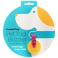 Holds Tags. Stops Noise. Enjoy silence for you and your dog. No more tag jingle with the Freeze Tag. The FreezeTag works with your dog id tags, pet id tags, keeping them silent and secure. Simple to Swap Collars. Easy to Change Tags. Split-rings are a thing of past. Give your dog's collar the modern upgrade it deserves with the FreezeTag pet tag holder. Split-rings become loose and fall off, leaving your dog at risk of not coming home. With the FreezeTag, it's easy to add new tags, an...