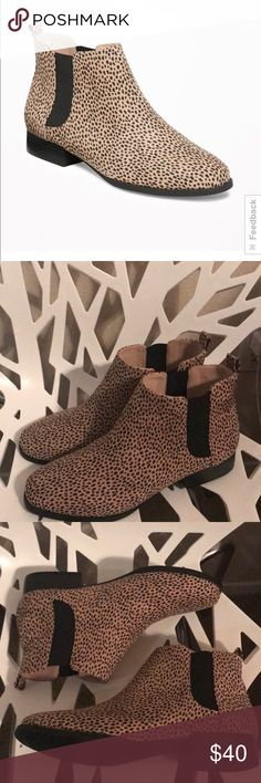 Old Navy Booties Cheetah print...NWOT...Chelsea style...shoe box not available Old Navy Shoes Ankle Boots & Booties