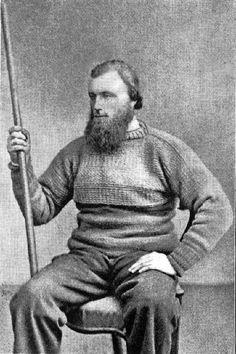 Lowestoft fisherman 1865, Joseph 'Posh' Fletcher. Wearing a variation on the Staithes pattern.