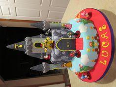 Bowser's Castle - Super Mario and friends visiting Bowser's castle