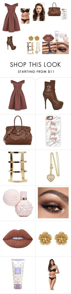 """Family Gathering :)"" by selenagomez01 ❤ liked on Polyvore featuring Chi Chi, Ralph Lauren, Casetify, Lime Crime, Miriam Haskell and Calvin Klein Underwear"