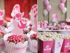 Pink Rock Star Birthday Party via Karas Party Ideas   KarasPartyIdeas.com