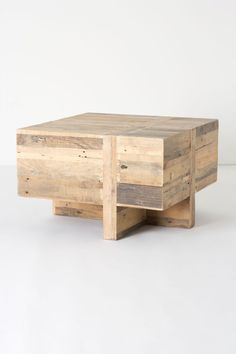 Wooden Block Side Table -