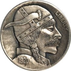 The Original Hobo Nickel Society Hobo Nickel, Coin Art, Modern Artists, Coin Collecting, Skull Art, Art Forms, Sculpture Art, Coins, Creations