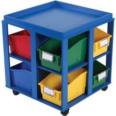 Mobile Storage Cart with Bins