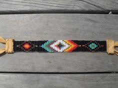 Loom beaded bracelet by daughterofthesun on Etsy, $52.00