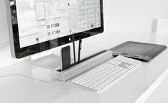 これはiMacが欲しくなっちゃうね! デスクオーガナイザー「Desk Rail」